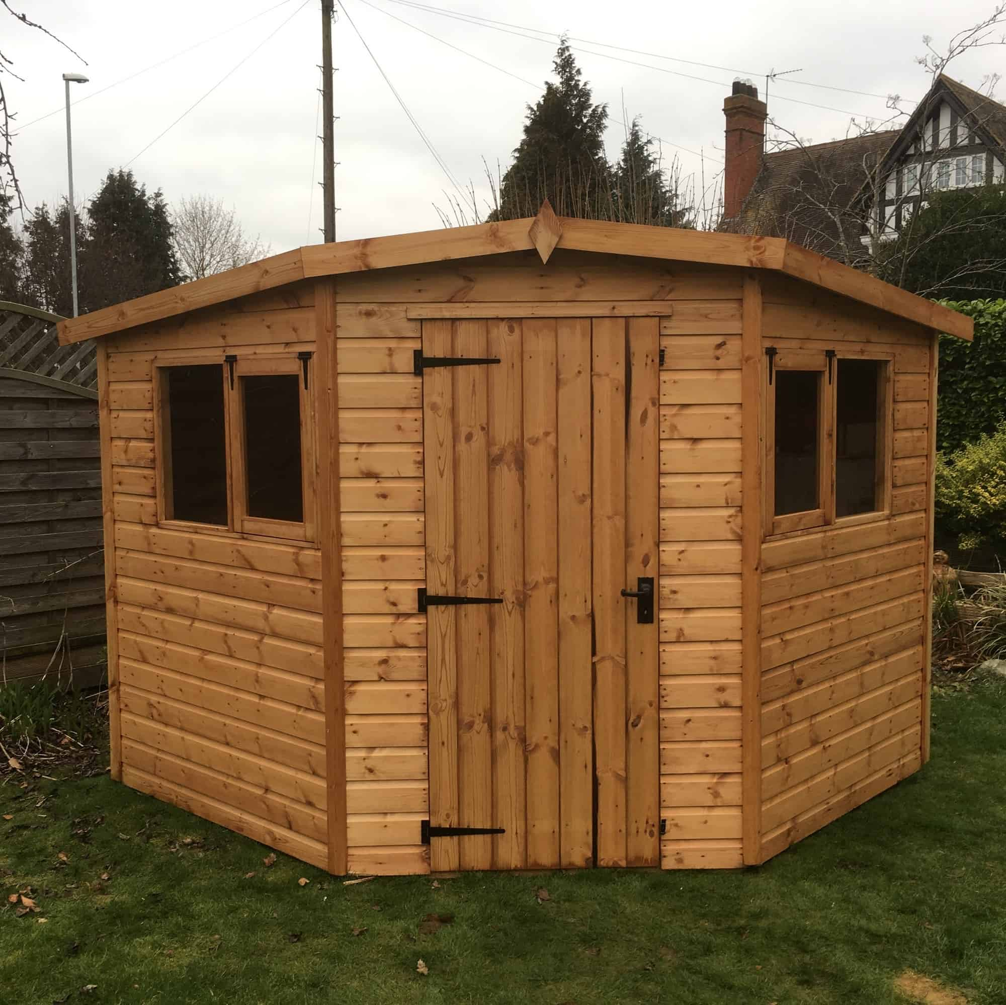 Stanwell Corner Shed by A&J - Berkshire Garden Buildings