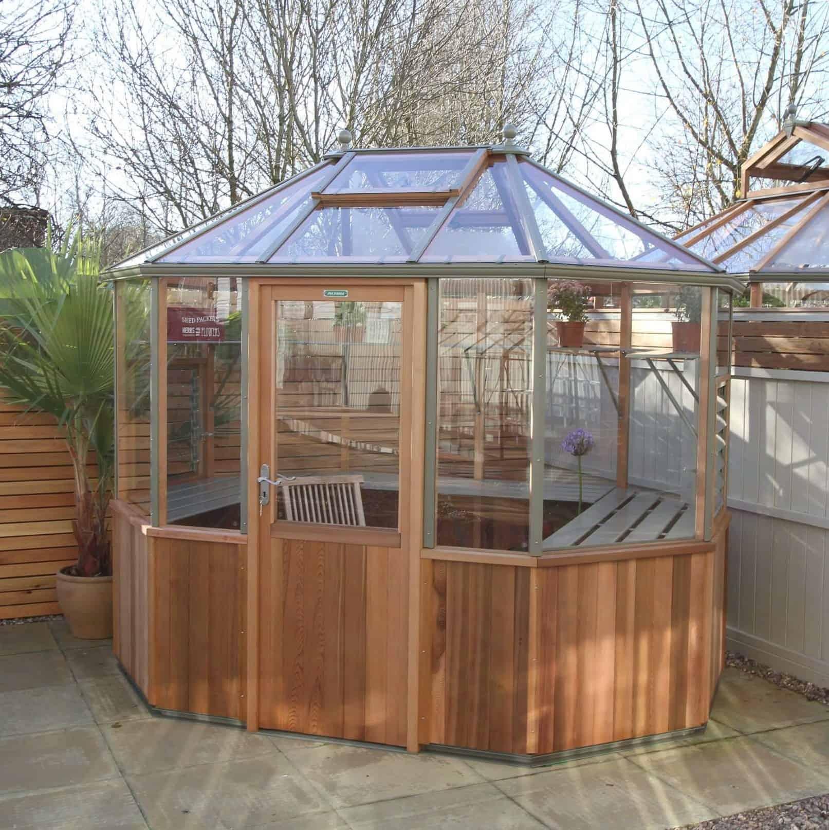 Alton Octagonal Cedar Greenhouse 6 x 9