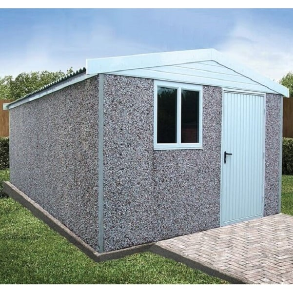 Deluxe Apex Concrete Shed by LidgetCompton