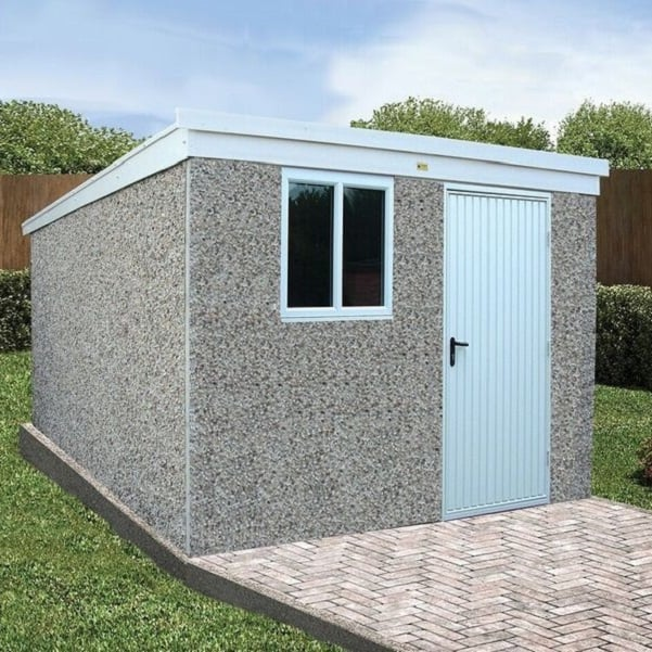 Deluxe Concrete Pent Shed by LidgetCompton