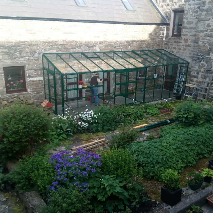 Elite Kensington 6 x 24 Lean to Greenhouse Green
