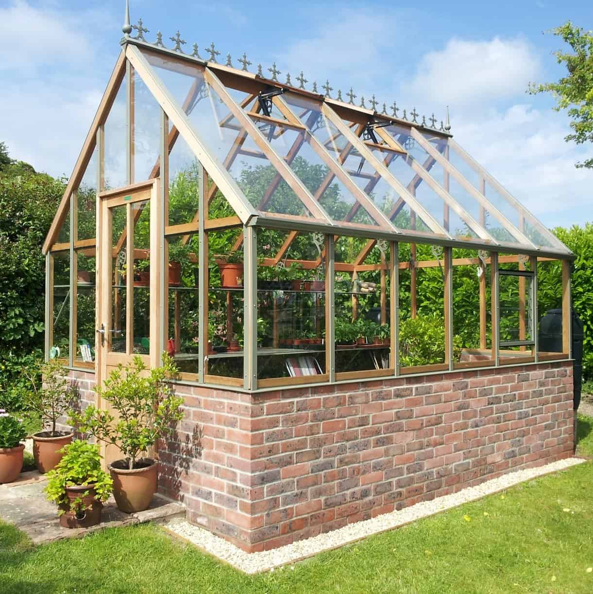 Ellesmere Dwarf Wall Victorian Cedar Greenhouse By Alton