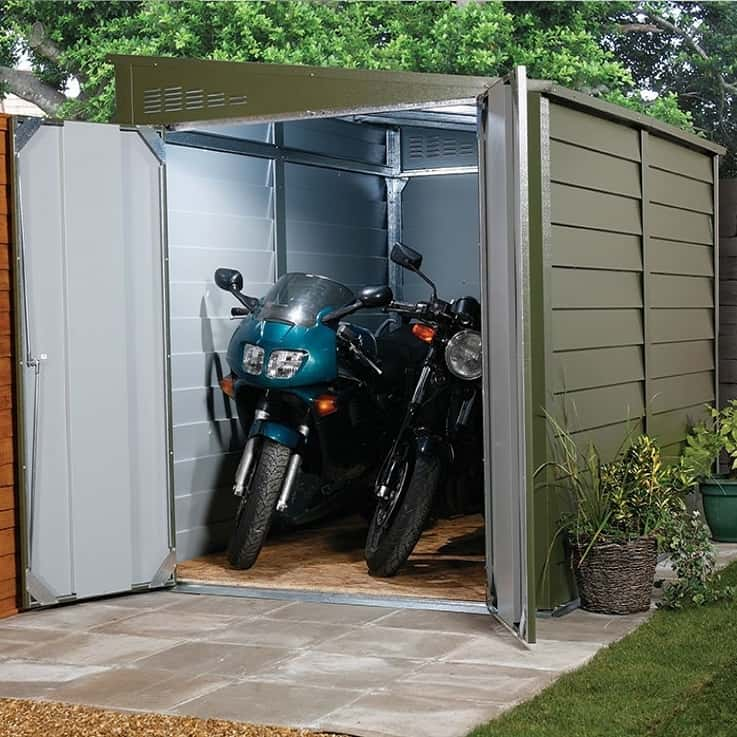 Extra Secure Motorbike Garage by Trimetals
