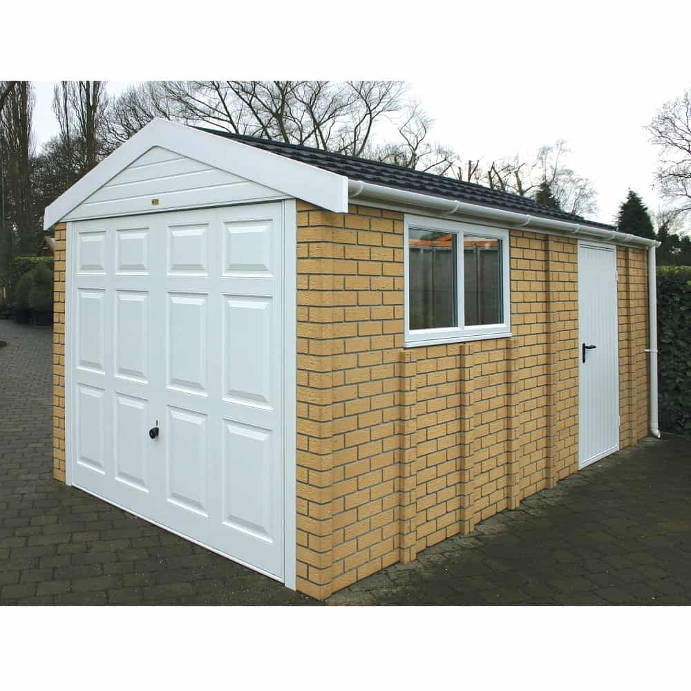 LidgetCompton Apex 20 Concrete Garage Buff Brick White