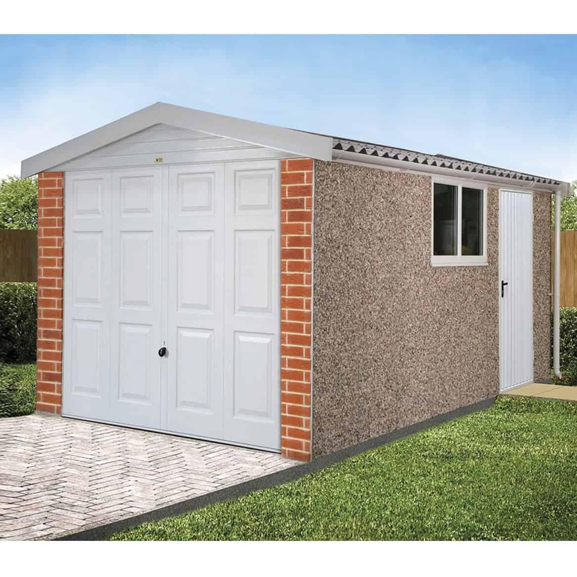 LidgetCompton Apex Deluxe Concrete Garage