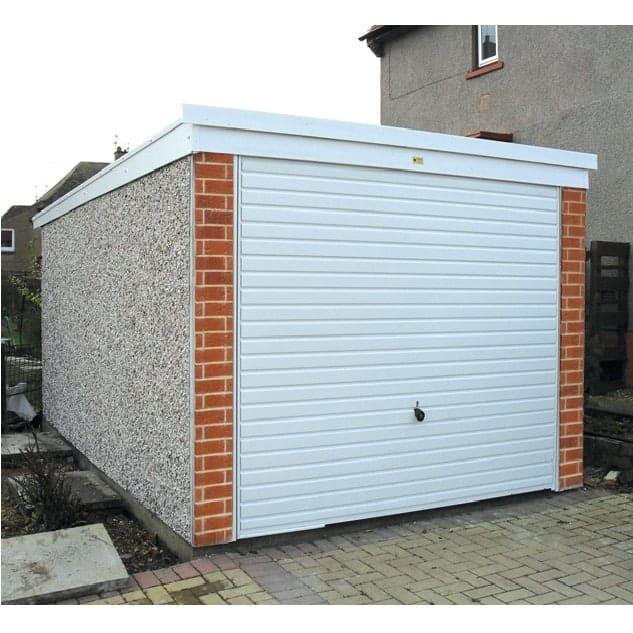 LidgetCompton Pent Concrete Garage PVCu & Brick Posts