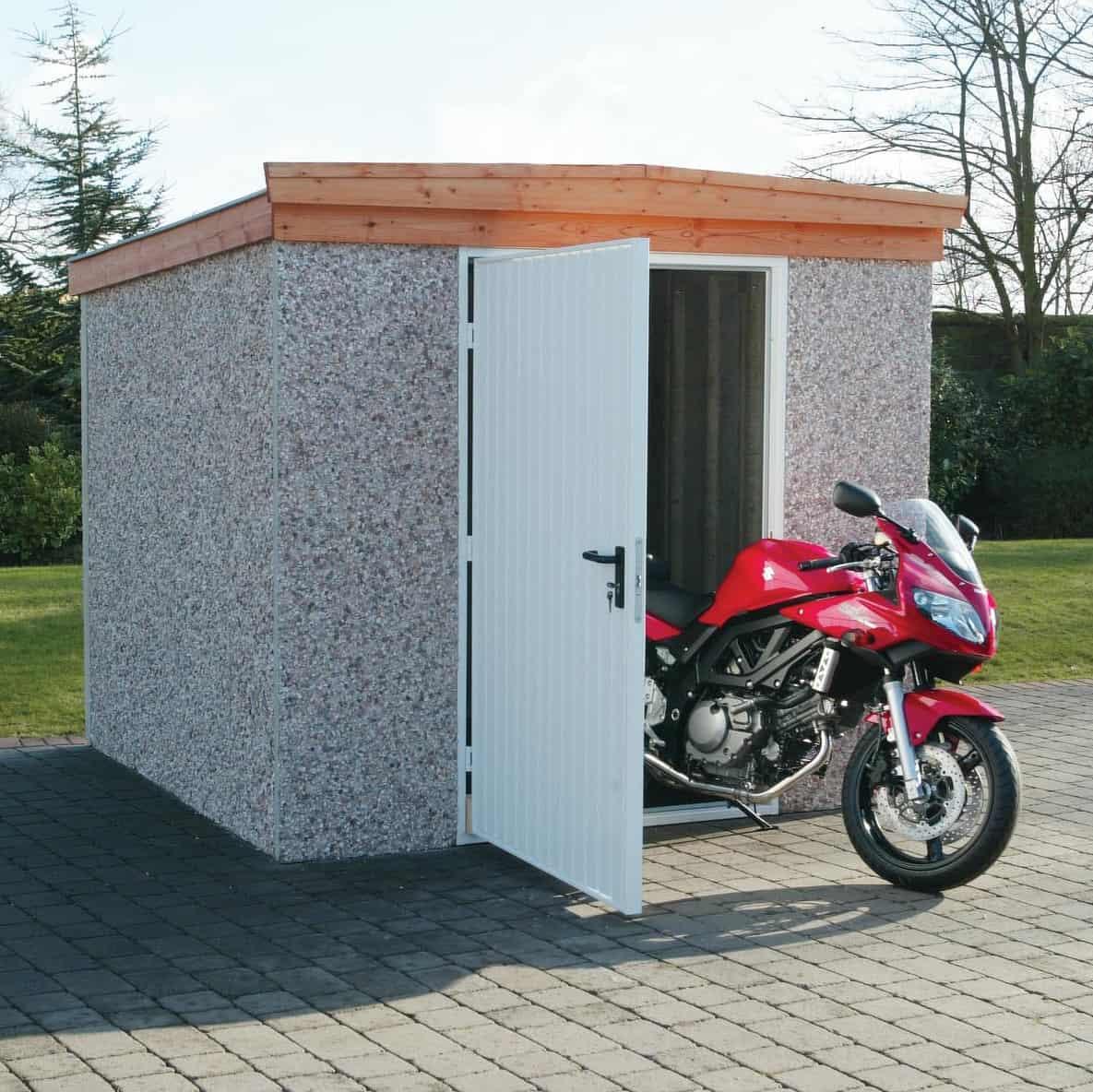 LidgetCompton Pent Concrete Shed Steel Door