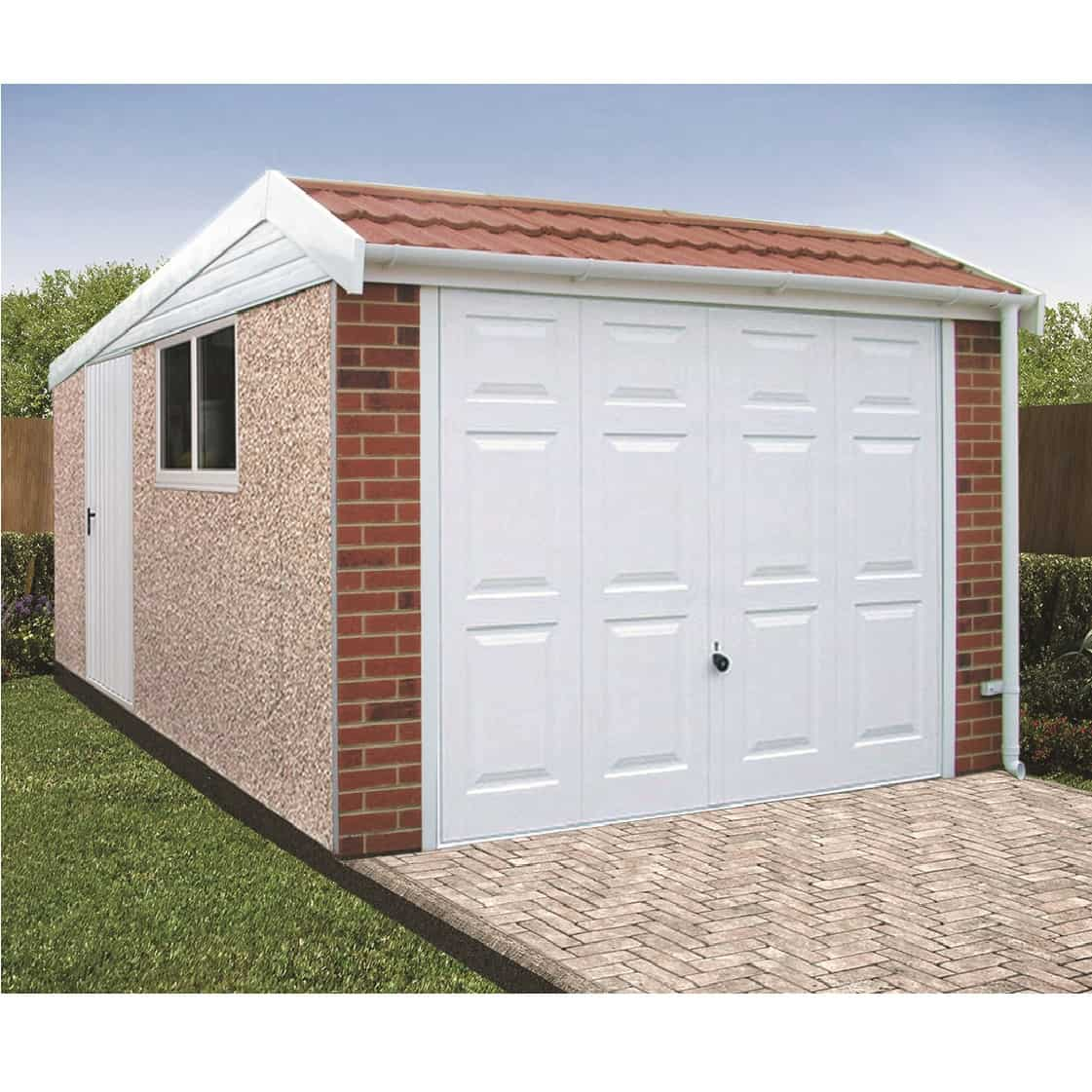 LidgetCompton Pent Mansard Deluxe Concrete Garage