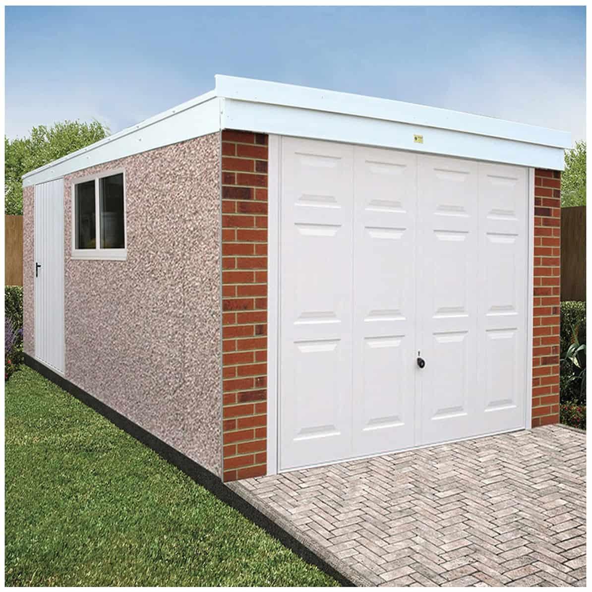 Pent Deluxe Concrete Garage by LidgetCompton