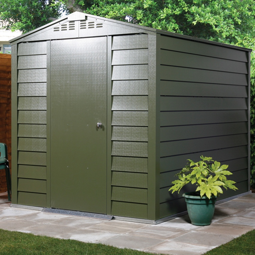 Titan 600 Apex Metal Shed by Trimetals