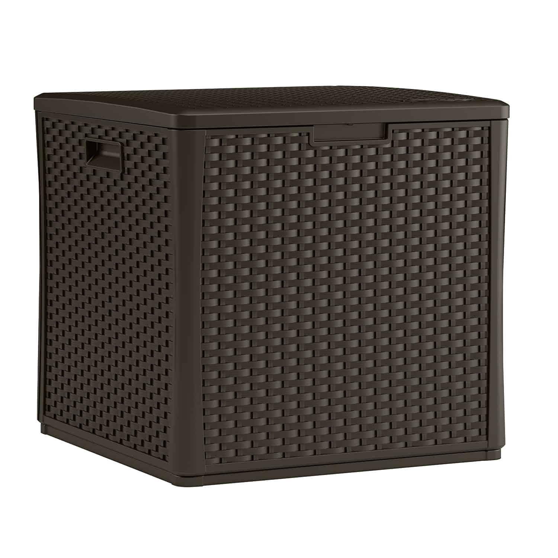 Wicker Deck Box Cube By Suncast Berkshire Garden Buildings