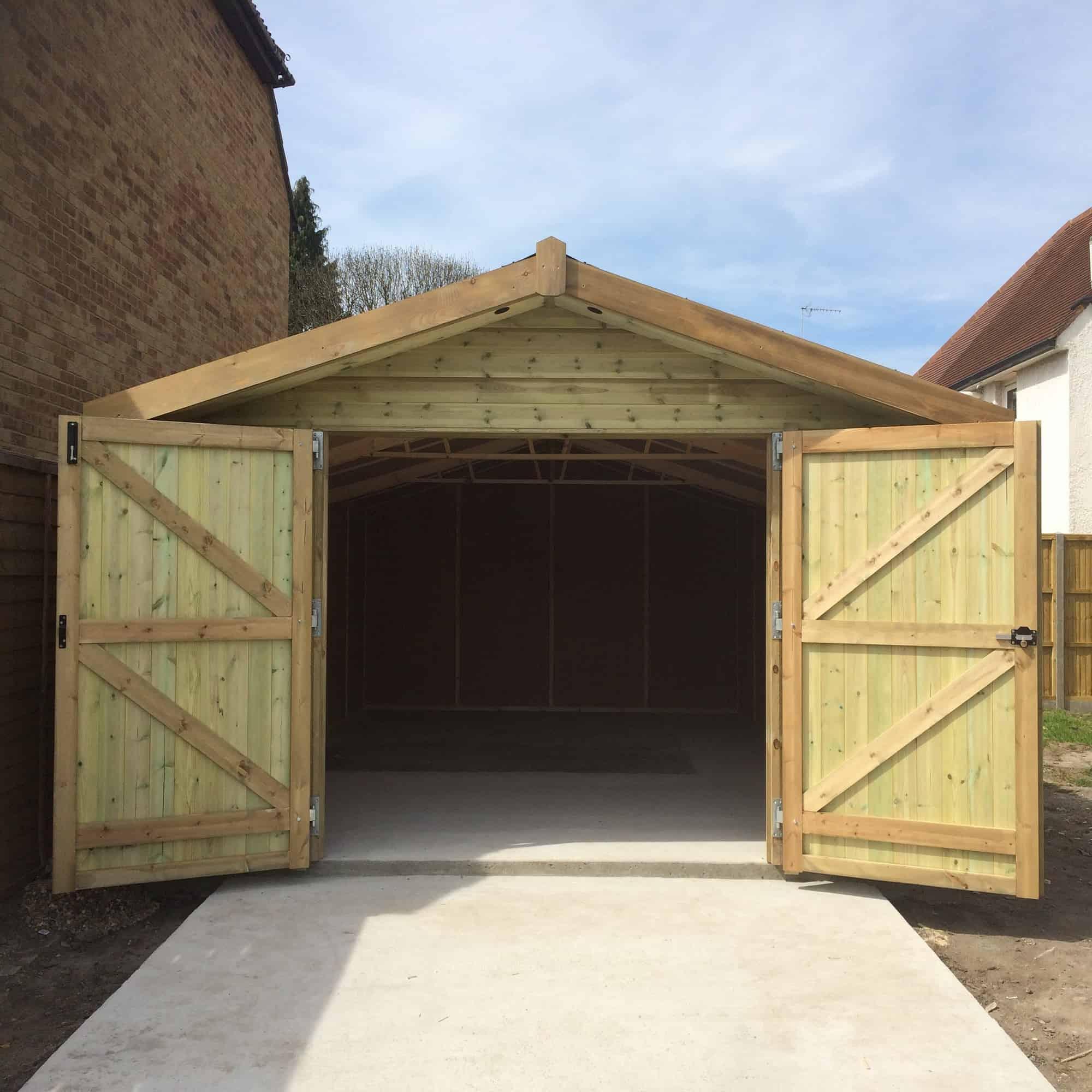 Phoenix Pressure Treated Garage Double Doors