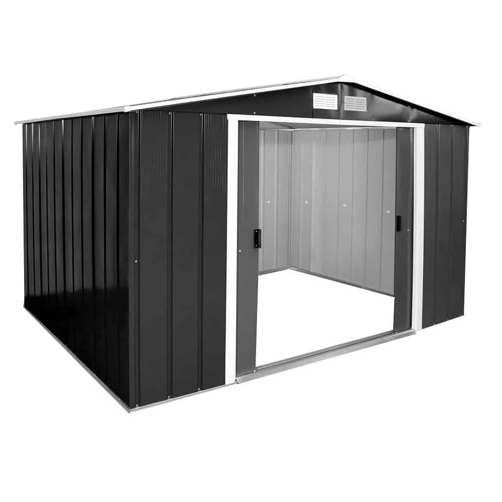 Sapphire 10 x 10 Anthracite Grey Metal Shed