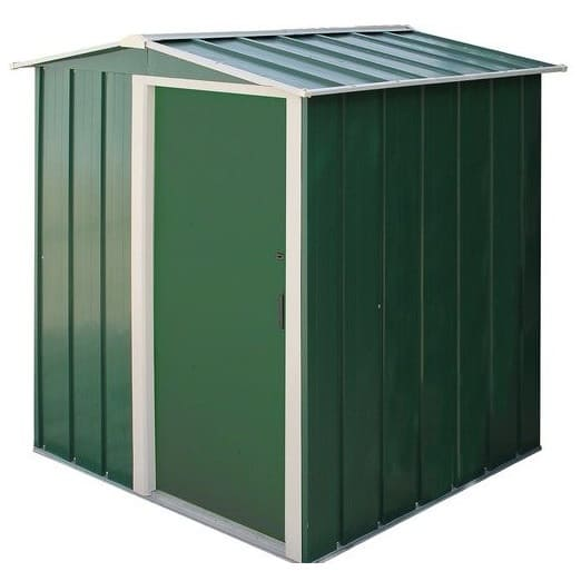 Sapphire 5 Metal Shed Green