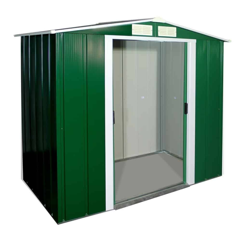 Sapphire 6 x 4 Green Metal Shed