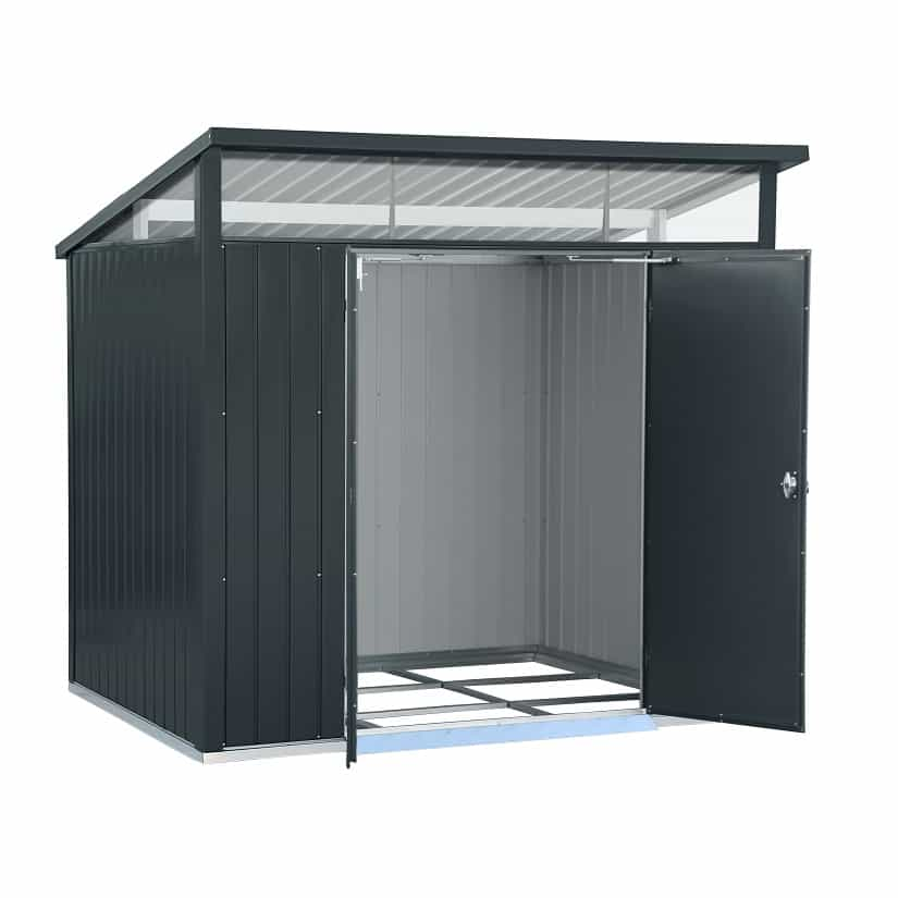 Heavy Duty Metal Shed With Double Doors By Falcon