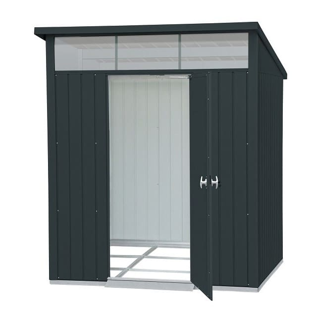 Heavy Duty Single Door Metal Shed 6′ x 5′ By Falcon