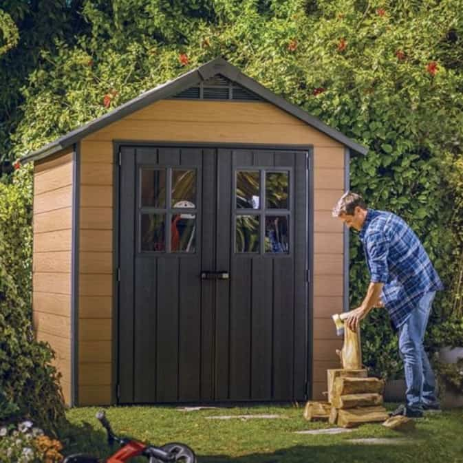 Keter Newton 757 Wood Effect Plastic Shed