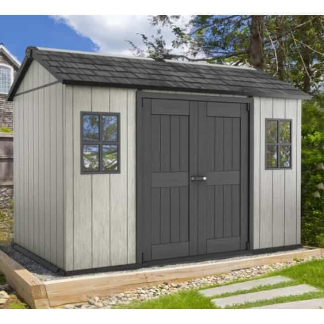 Keter Oakland 1175 Plastic Shed Grey Outdoors