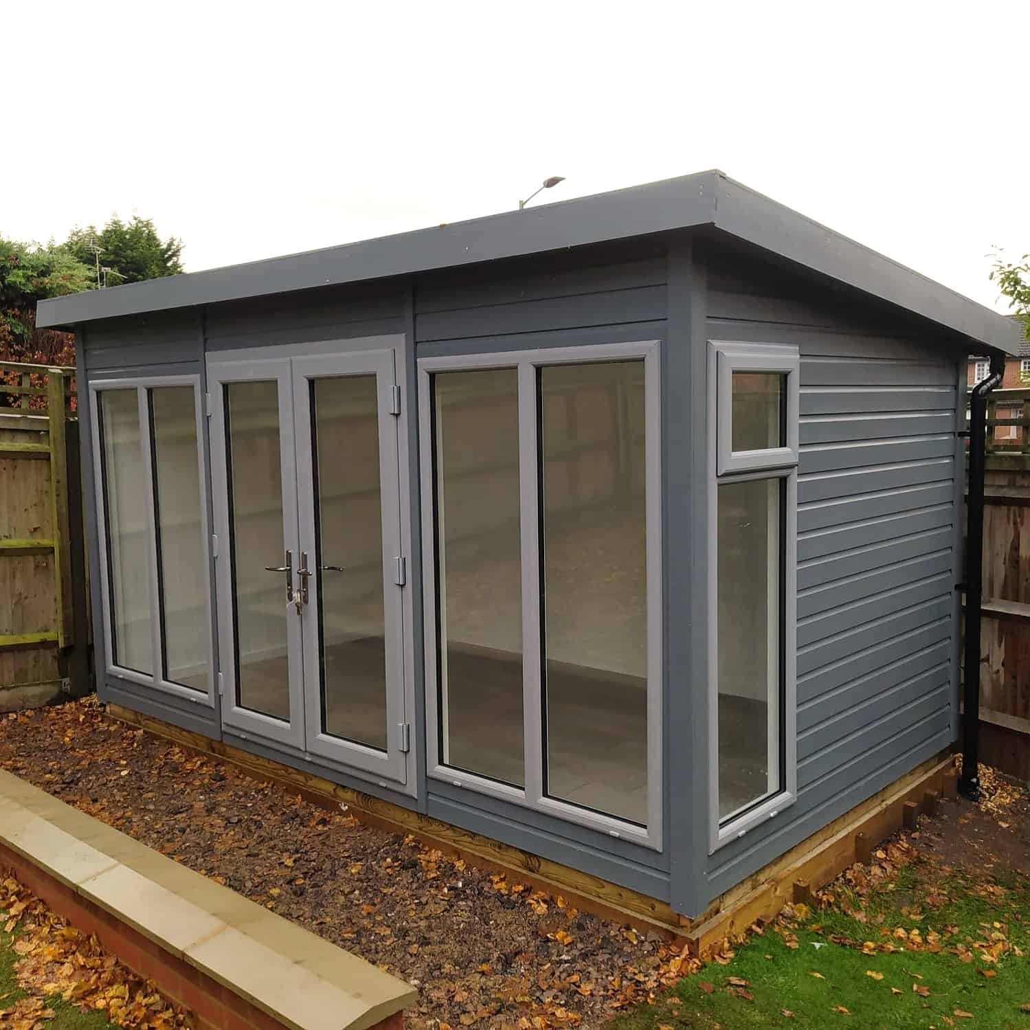 14′ x 8′ Insulated Garden Room Podington Pent Roof Studio By A&J